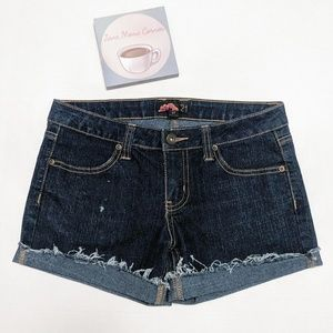Forever 21 Custom Cut Off Shorts Rolled St…